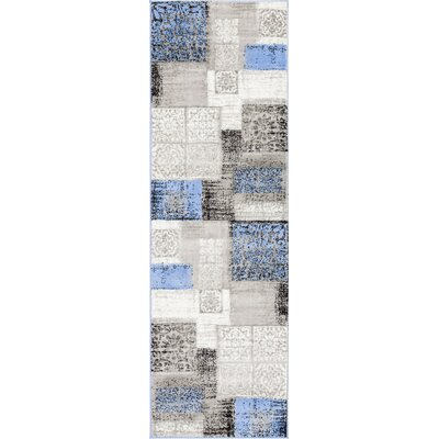 Ash Pronto Modern Blue Indoor Area Rug Rug Size: Runner 23 x 73