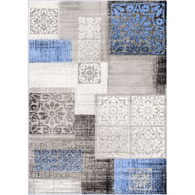 Ash Pronto Modern Blue Indoor Area Rug Rug Size: 93 x 126