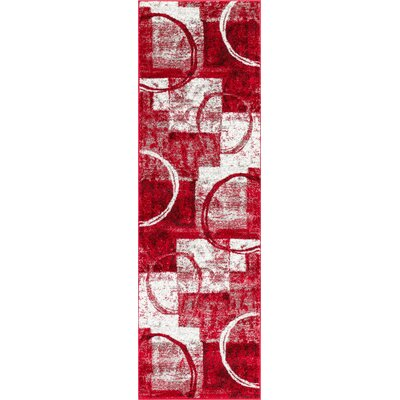Ash Red Indoor Area Rug Rug Size: Runner 23 x 73