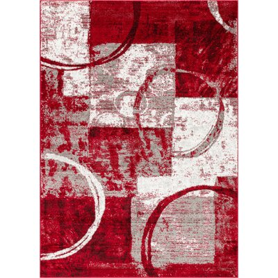 Ash Red Indoor Area Rug Rug Size: Rectangle 53 x 73
