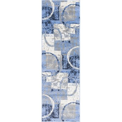 Ash Blue Indoor Area Rug Rug Size: Runner 23 x 73