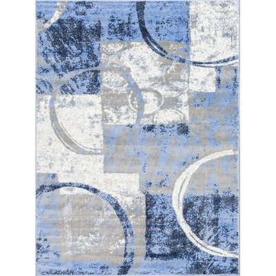 Ash Blue Indoor Area Rug Rug Size: Rectangle 93 x 126