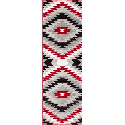 Ash Southwest Red Indoor Area Rug Rug Size: Runner 23 x 73