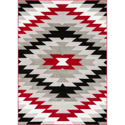 Ash Navajo Southwest Red Indoor Area Rug Rug Size: 93 x 126