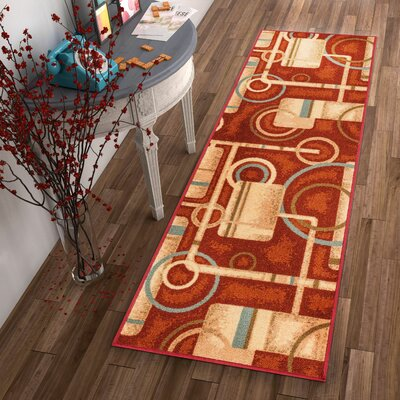 Covey Prescott Red Indoor/Outdoor Area Rug Rug Size: Runner 18 x 5