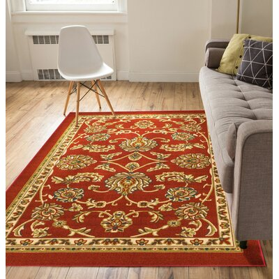 Kings Court Tabriz Red Indoor/Outdoor Area Rug Rug Size: 710 x 910