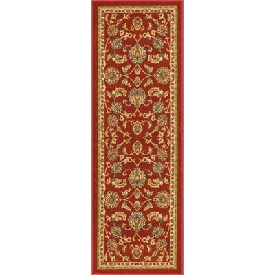 Addieville Red Area Rug Rug Size: Runner 27 x 12