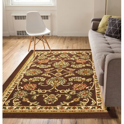 Kings Court Tabriz Indoor/Outdoor Area Rug Rug Size: 5 x 7