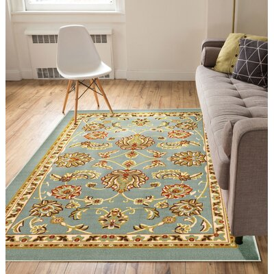 Kings Court Tabriz Blue Indoor/Outdoor Area Rug Rug Size: 710 x 910