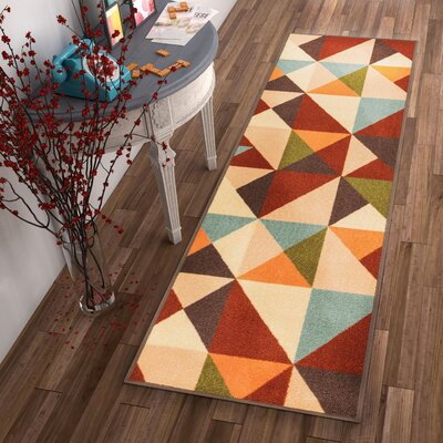 Chrisman Red Indoor/Outdoor Area Rug Rug Size: Runner 27 x 12