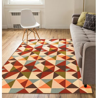 Chrisman Red Indoor/Outdoor Area Rug Rug Size: 5 x 7