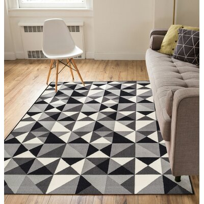 Vector Gray Indoor/Outdoor Area Rug Rug Size: 5 x 7