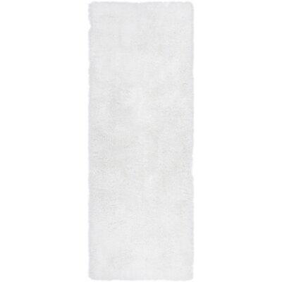 Mcclain White Area Rug Rug Size: Runner 27 x 73
