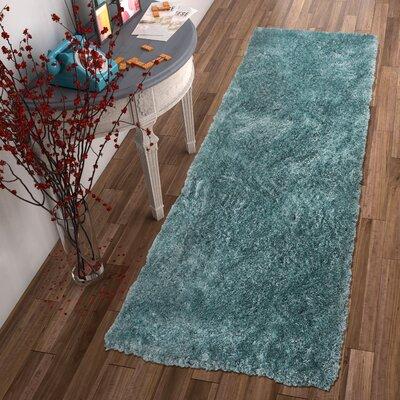 Mcclain Shag Blue Area Rug Rug Size: Runner 27 x 73