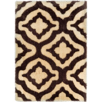Feather Jesse Trellis Beige Area Rug Rug Size: 710 x 910