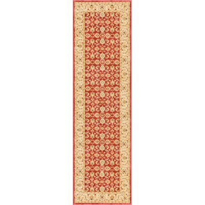 Allerdale Red/Cream Area Rug Rug Size: Runner 23 x 73