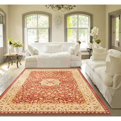 Allerdale Oriental Red/Ivory Area Rug Rug Size: 67 x 93
