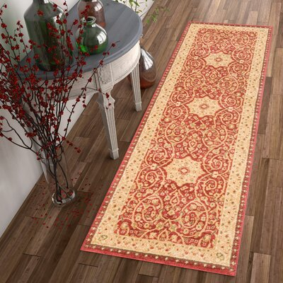 Allerdale Oriental Red/Ivory Area Rug Rug Size: Runner 23 x 73
