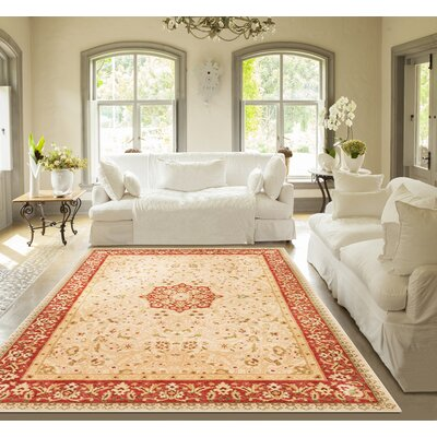 Allerdale Ivory/Red Area Rug Rug Size: 67 x 93