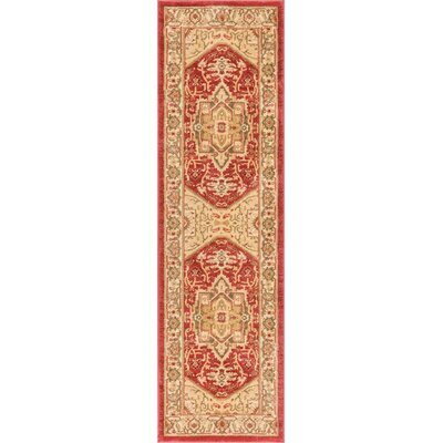 Allerdale Red/Ivory Area Rug Rug Size: Runner 23 x 73