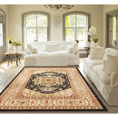 Allerdale Ivory/Black Area Rug Rug Size: 710 x 910