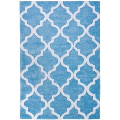 Mirage Lattice Light Blue Area Rug Rug Size: Rectangle 5 x 76