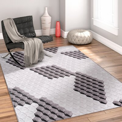 Collinsville Black Area Rug Rug Size: 93 x 126