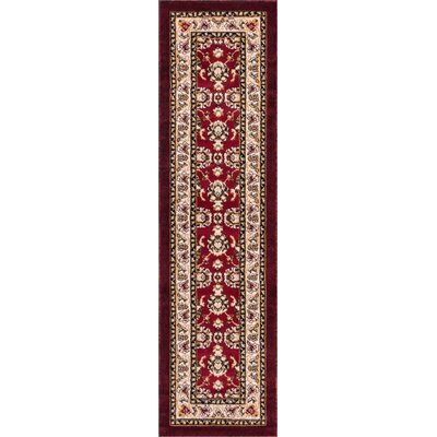 Harbert Traditional Red Area Rug Rug Size: 93 x 126