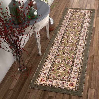 Dulcet Alana Green/Beige Area Rug Rug Size: 710 x 910