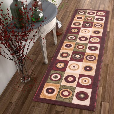 Dulcet Commerce Brown Geometric Area Rug Rug Size: Runner 2 x 73