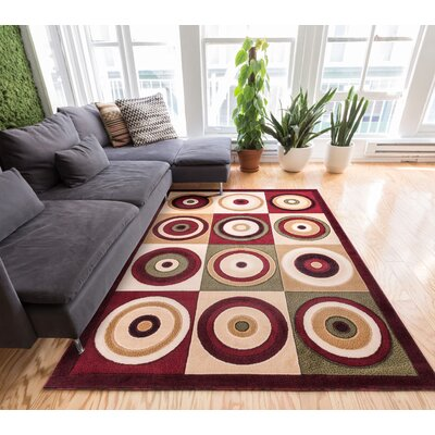 Dulcet Commerce Brown Geometric Area Rug Rug Size: 5 x 72