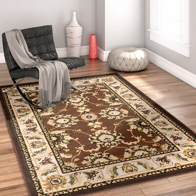 Burley Oak Alana Oriental Brown Area Rug Rug Size: Rectangle 33 x 5