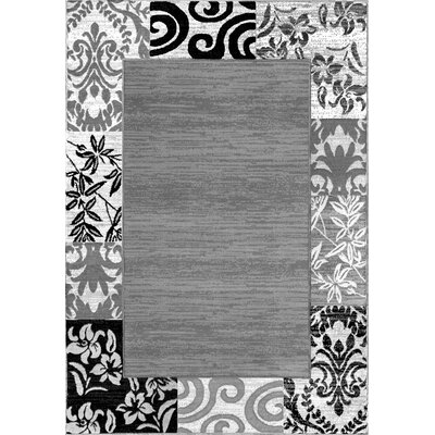 Burley Oak Damask Gray Area Rug Rug Size: 710 x 910