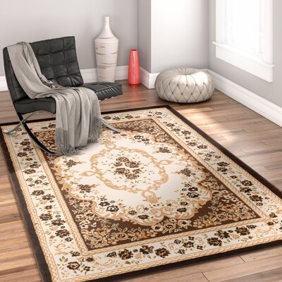 Burley Oak Versaille Brown Area Rug Rug Size: 710 x 910