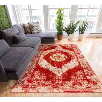 Sydney Red/Beige Area Rug Rug Size: 710 x 106