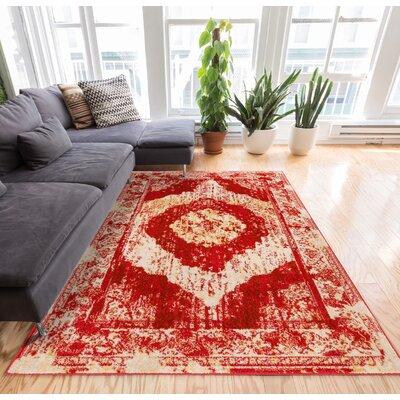 Sydney Red/Beige Area Rug Rug Size: 23 x 311