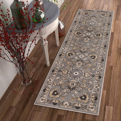 Colindale Gray Area Rug Rug Size: Runner 27 x 12