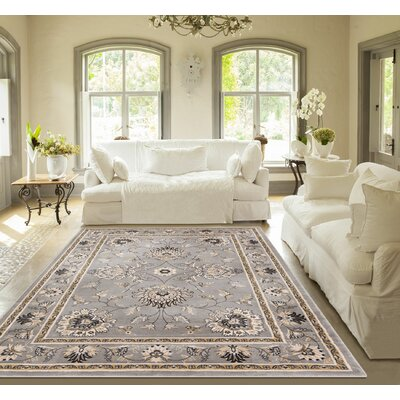 Timeless Abbasi Gray Area Rug Rug Size: Runner 23 x 73