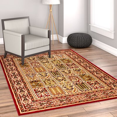 Timeless Cordelia Garden Red/Beige Area Rug Rug Size: 311 x 53