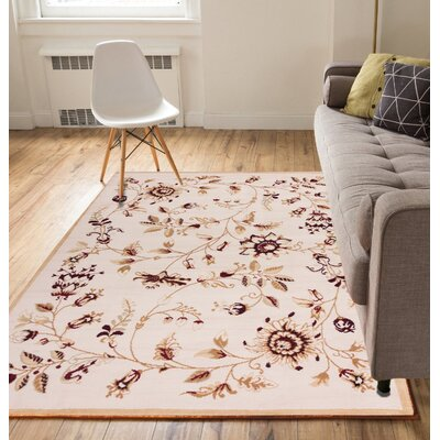 Aldenport Sunflower Fields Ivory Area Rug Rug Size: 53 x 73