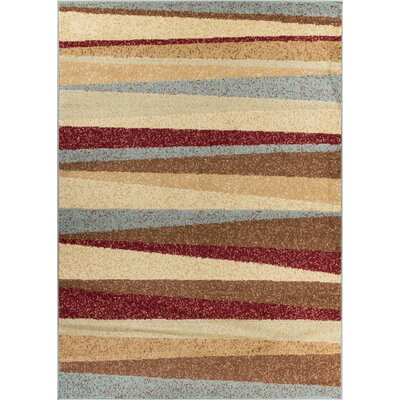 Servare Stripe Power Loom Indoor Area Rug Rug Size: 33 x 5