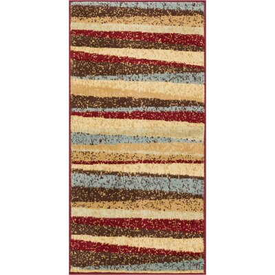 Servare Stripe Power Loom Indoor Area Rug Rug Size: 23 x 311