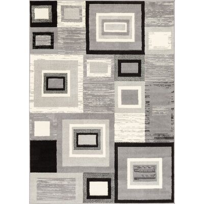 Darren Mid-Century Power Loom Gray Indoor Area Rug Rug Size: 23 x 311