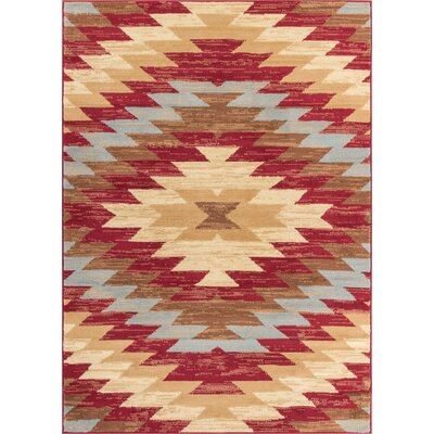 Hayes Southwestern Power Loom Red Indoor Area Rug Rug Size: 33 x 5