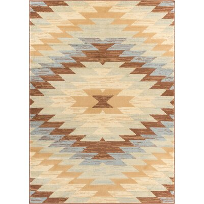 Hayes Southwestern Power Loom Beige Indoor Area Rug Rug Size: Runner 2 x 72