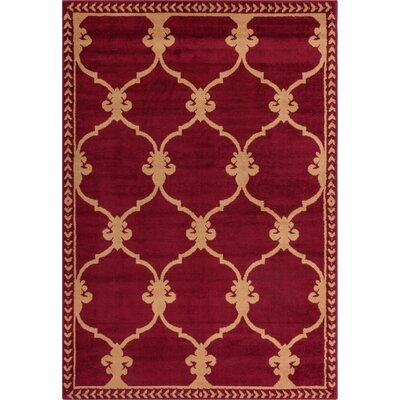 Bartz Trellis Power Loom Red Indoor Area Rug Rug Size: 33 x 5