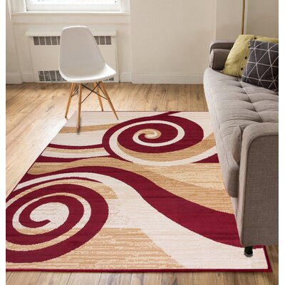 Ayala Waves Area Rug Rug Size: 82 x 910