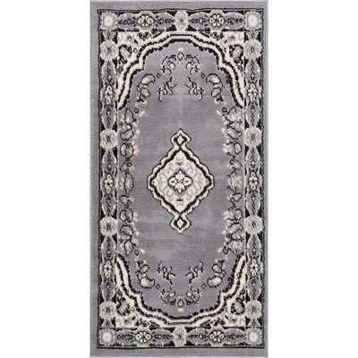 Aldenport Medallion Power Loom Gray Indoor Area Rug Rug Size: 23 x 311