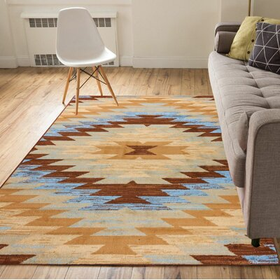 Binstead Southwestern Power Loom Beige Indoor Area Rug Rug Size: 33 x 5