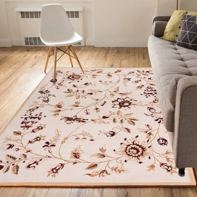 Aldenport Sunflower Fields Ivory Area Rug Rug Size: 33 x 5